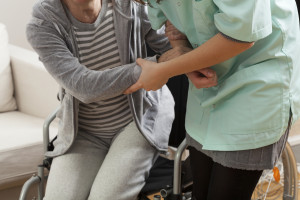 Wheelchair Injury Pressure Sore from Cushion on Wheelchair, Accessible Space ASI South - Decubitus Ulcer - Pressure Ulcer