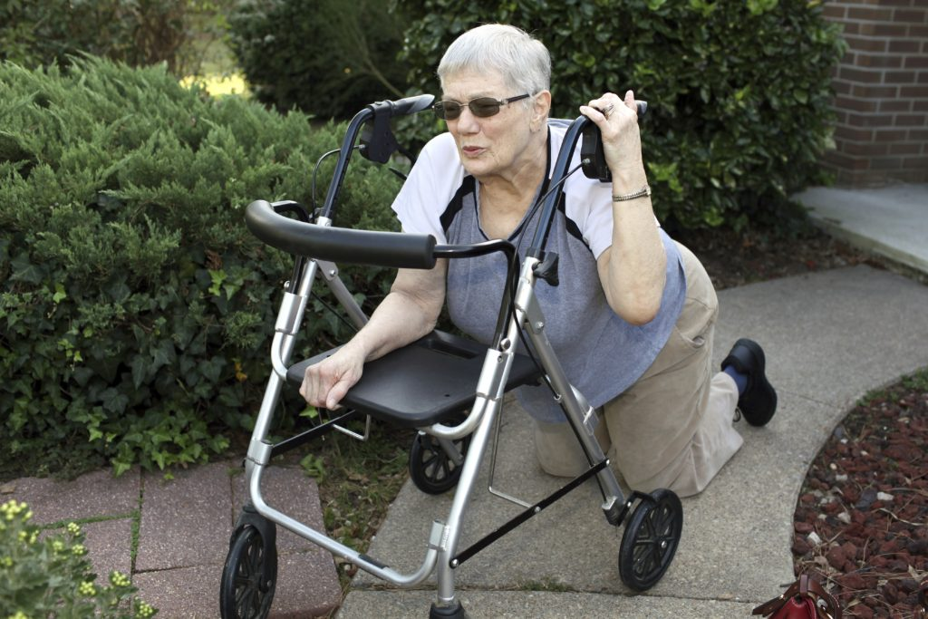 Client at The Birches at Trillium Woods in Plymouth Sustained Fractured Vertebae after Fall Due to Improper Transfer Using Four-Wheeled Walker Instead of Wheelchair