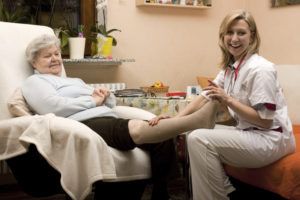 Nursing Staff Providing Wound Care for Pressure Sore Injury